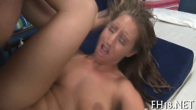 Joyous pussy stroking