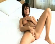 Amazingly Beautiful Brunette Touches Her Wet Pussy - scene 11