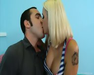 Sweet Blonde Mommy Mandy Visits Her Stepson In College - scene 2