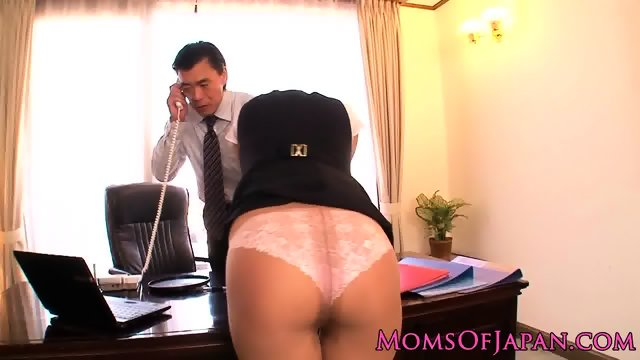 Punished japanese milf facialized in office