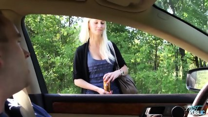 Girl Leans Out Car Window To Suck Cock - scene 1