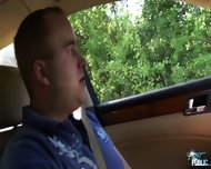 Girl Leans Out Car Window To Suck Cock - scene 2
