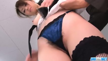 Subtitles - Beautiful Maki Hojo Fucked Hard In Office - scene 4