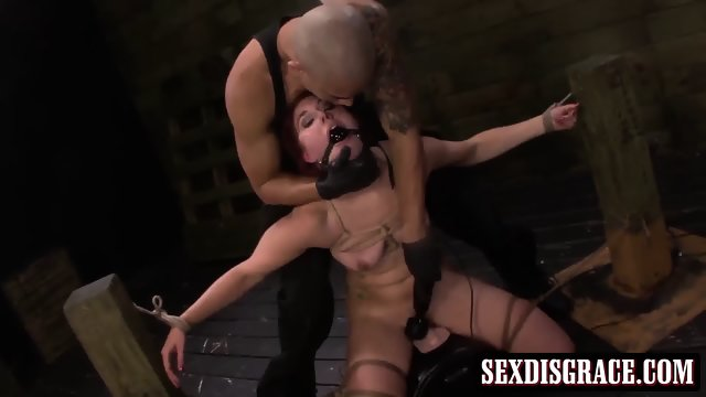 Rose Red loves this rough bondage sex action w/ nasty dude