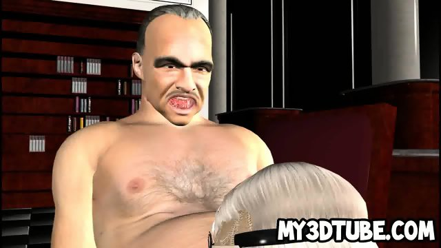Classy 3d Babe Sucks And Fucks The Godfather