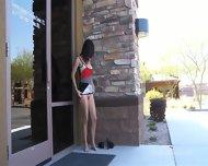 Kristen Plays Her Pussy Outdoor - scene 12