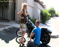 Outdoor Activities With Sexy Blonde Kelly - scene 2