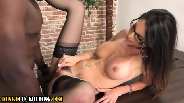 Hot domina rides big cock