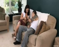 Gullible Brunette Chick Gets Creampied - scene 2