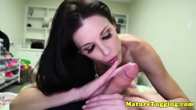 Tugging milf India Summer jerking pov