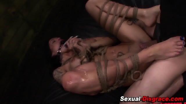 Kinky bdsm slut railed