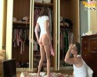 Ass Fucked Girl In White Stockings - scene 1