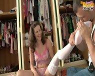 Ass Fucked Girl In White Stockings - scene 2