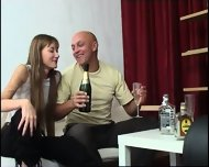 Old Guy Has Fun With Drunk Young Chick - scene 2