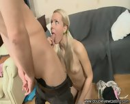Blonde Gets Fucked In All Of Her Holes - scene 3