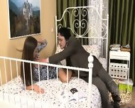 Bed Stories Presented By Pretty Brunette And Her Boyfriend - scene 1