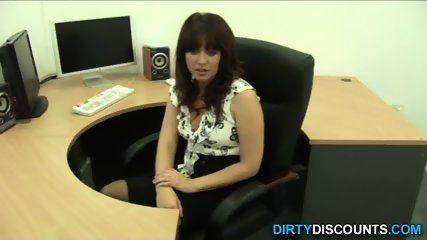 POV Mature Bosslady Spanks Cock For Being Bad - scene 3
