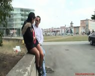 Shameless Outdoor Games Of Horny Couple - scene 2