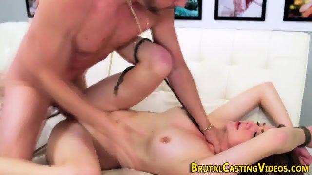 Teen takes rough fuck