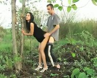 Real Couple Is Really Close To The Nature