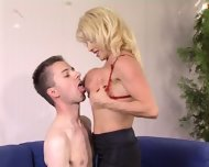 Mature Woman Donna Checks Young Soldier's Skills - scene 2