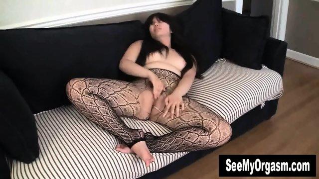 Chubby Asian Hermine Masturbating - scene 12