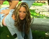 Garden Party With Beautiful Blonde - scene 2