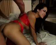 Anal Games With Brunette In Sexy Suit