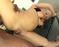 Strong Black Pole Penetrates Her Ass Hole - scene 10