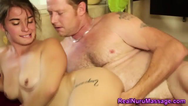 Hot masseuse gets jizzed