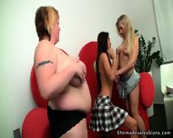 Fat Slut Likes To Watch Lesbian Games - scene 8