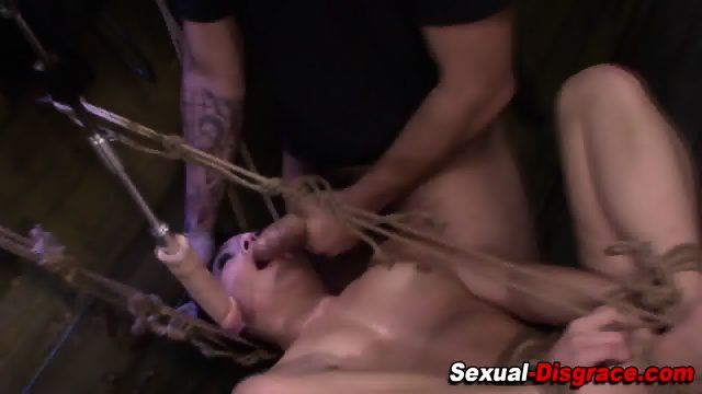 Bdsm slaves pussy clamped