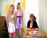 Three Lesbians In Action On Bed - scene 1