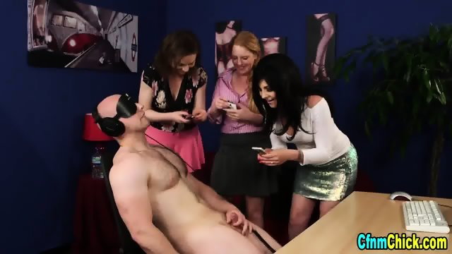 Cfnm ginger mistress jerk