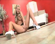 Glamorous Blonde Plays With Toy - scene 6