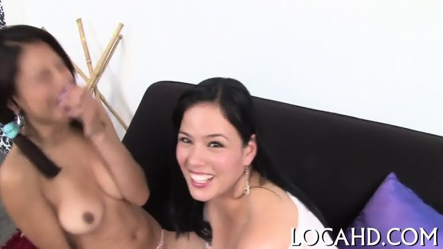 Cutie licks balls and sucks hard dick