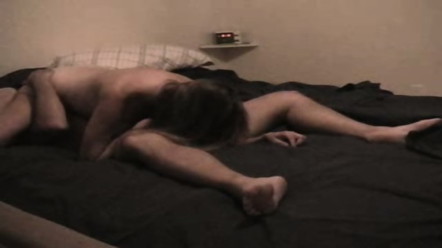 Hot amateur couple fucks at home