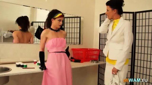 Mature Lesbian Punishes Teen Girl - scene 11