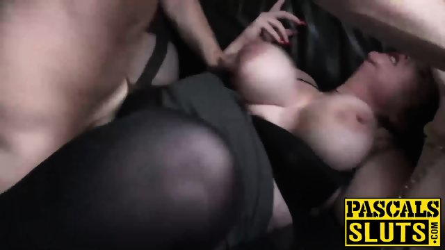 Big ass MILF with huge tits gets penetrated roughly on floor - scene 11