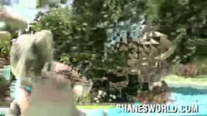 Shanes World -cool orgy poolside - scene 2