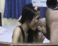 Skinny Brunette Licks Dick - scene 8