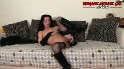 Mature in a couch enjoy alone - scene 8