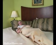 Pregnant Girl Has Fun With Dildo - scene 1