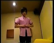 Japanese Girl in Working Uniform - scene 1
