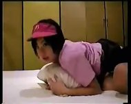 Japanese Girl in Working Uniform - scene 10