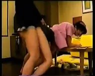 Japanese Girl in Working Uniform - scene 12