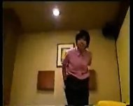 Japanese Girl in Working Uniform - scene 2