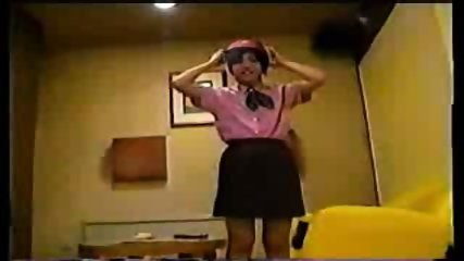 Japanese Girl in Working Uniform - scene 4