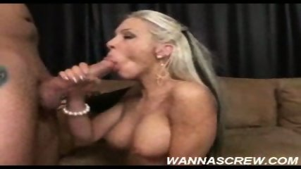 Blonde sucks a bg dick and swallows its load - scene 2