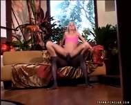 Black Dick Penetrates Blonde's Pink Hole - scene 9